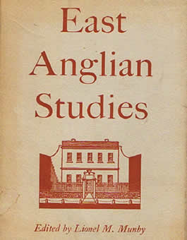 Book cover - East Anglian Studies edited by Lionel M. Munby