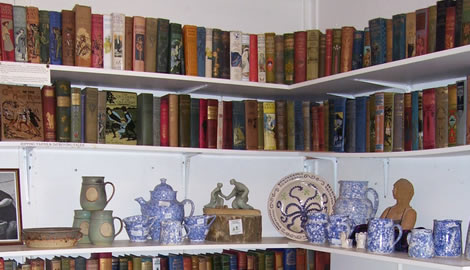 Old Pottery books - some of the stock on display