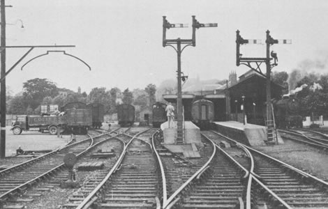Station and Goods Yard  before closure of the line in 1962